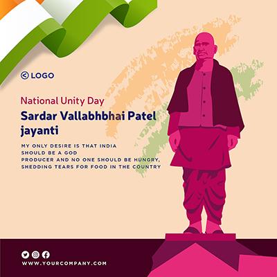 Template of national unity day sardar vallabhbhai patel jayanti