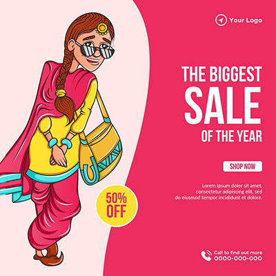 The biggest sale of the year banner template