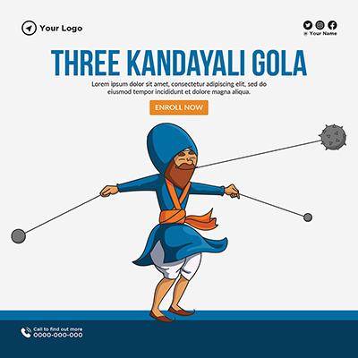 Three kandayali gola banner template