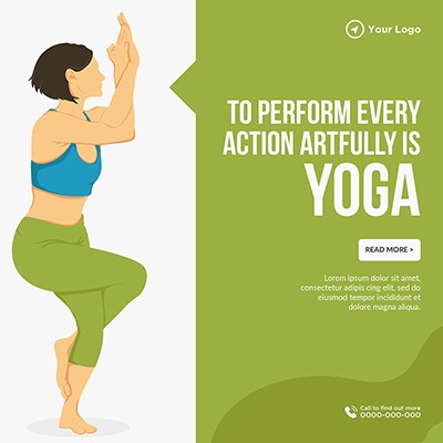 To perform every action artfully is yoga template