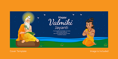 Valmiki Jayanti cover page template