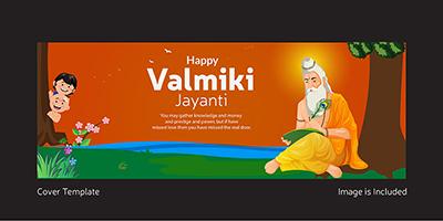 Valmiki Jayanti cover page template design