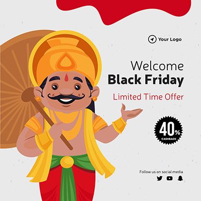 Welcome black friday sale banner template