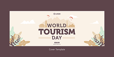 World tourism day cover page design template