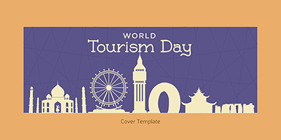 World tourism day cover page template