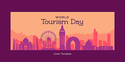 World tourism day cover template