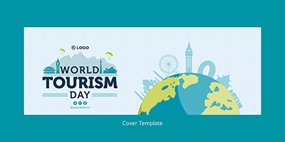 World tourism day facebook cover page template