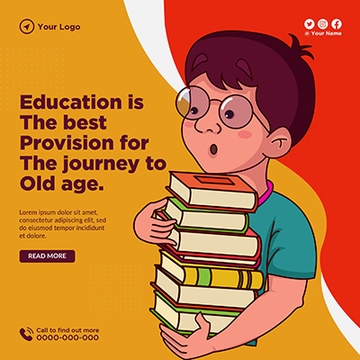 Banner design with education is the best provision
