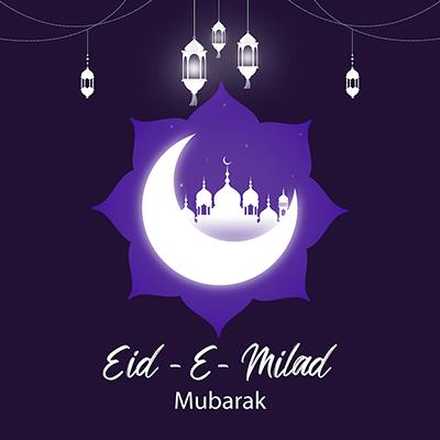 Banner template of Eid-e-milad mubarak
