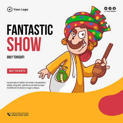 Banner template of fantastic show