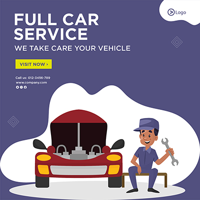 Banner template of full car service