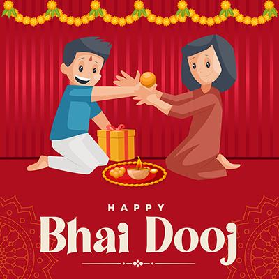 Banner template of happy bhai dooj
