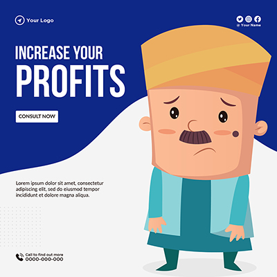 Banner template of increase your profits