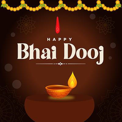 Banner template of the happy bhai dooj