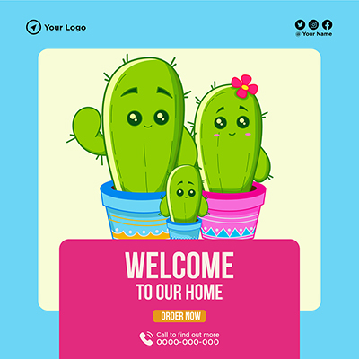Banner template of welcome to our home