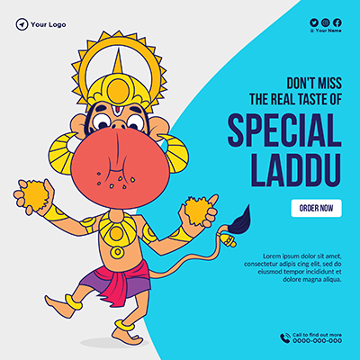 Banner template with special laddu