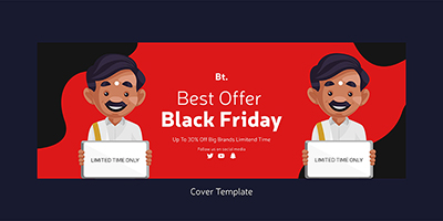 Best offers on sale with the black friday cover page design
