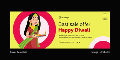 Best sale offer on happy Diwali coverpage template