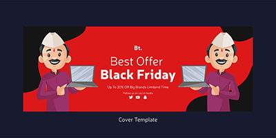 Black friday sale offers design on the cover template