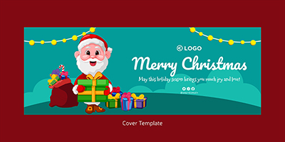 Cover design template of merry christmas