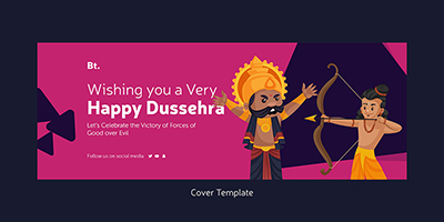 Cover page template of happy dussehra wishes