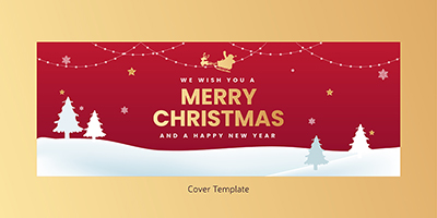 Cover page template of merry christmas