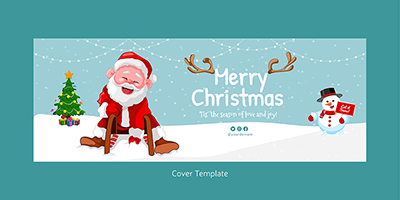 Coverpage design template of merry christmas