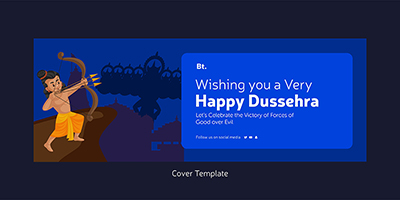 Coverpage template of happy dussehra wishes