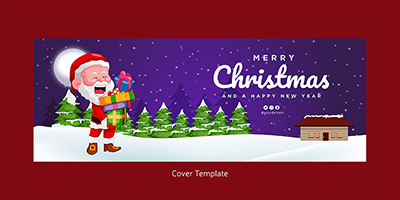 Coverpage template of merry christmas