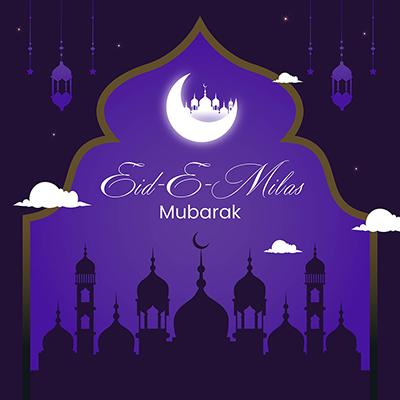 Eid-e-milad mubarak banner template design