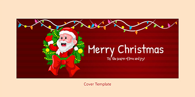 Facebook cover page template of merry christmas