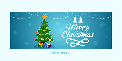 Facebook coverpage template of merry christmas