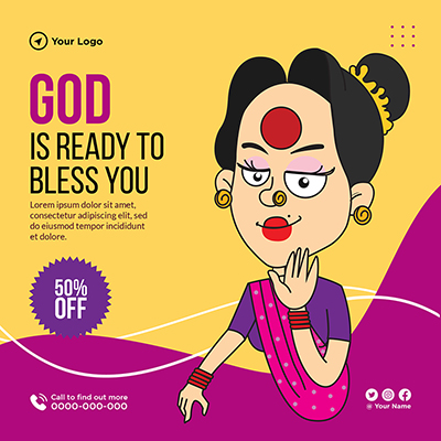 God is ready to bless you template design