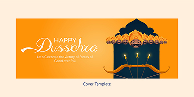 Happy Dussehra on coverpage template