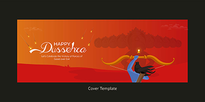 Happy Dussehra on the coverpage template