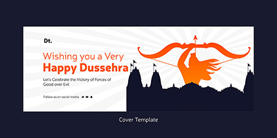 Happy Dussehra wishes cover template
