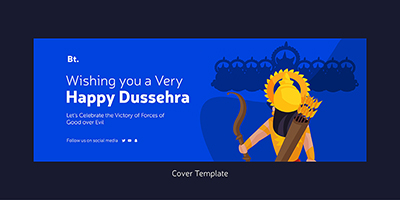 Happy Dussehra wishes on facebook cover template