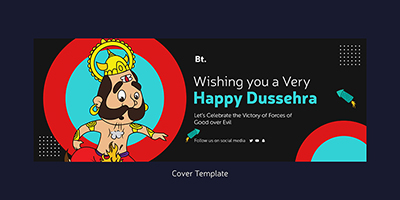 Happy Dussehra wishes with a cover template