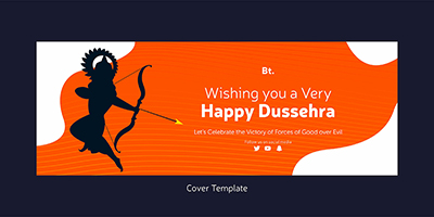 Happy Dussehra wishes with cover template