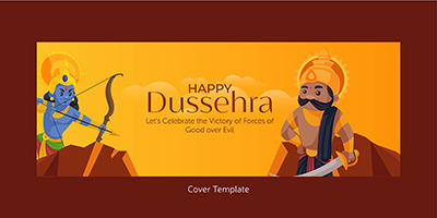 Happy Dussehra with a cover template
