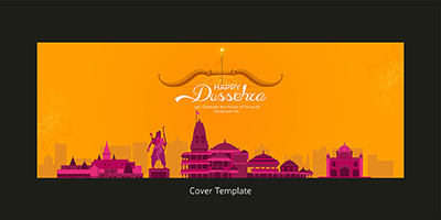 Happy Dussehra with coverpage template