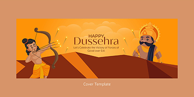 Happy Dussehra with the cover template
