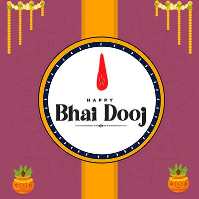 Happy bhai dooj banner design template