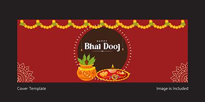 Happy bhai dooj cover template