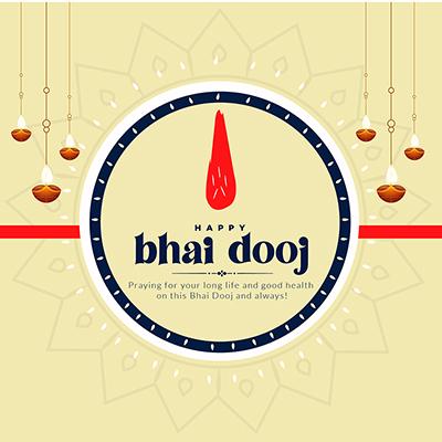 Happy bhai dooj on banner template