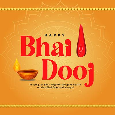 Happy bhai dooj on the banner template