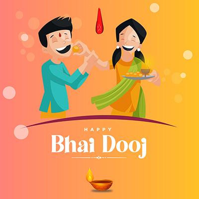 Happy bhai dooj with banner template