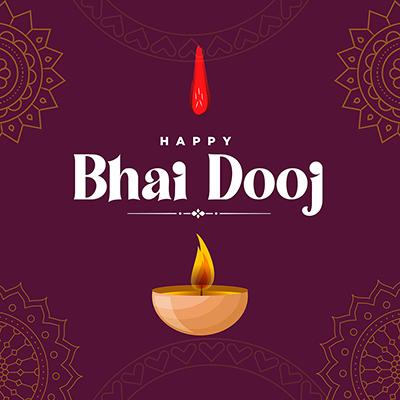 Happy bhai dooj with template banner