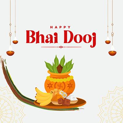 Happy bhai dooj with the template banner
