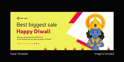 Happy Diwali cover template best biggest sale